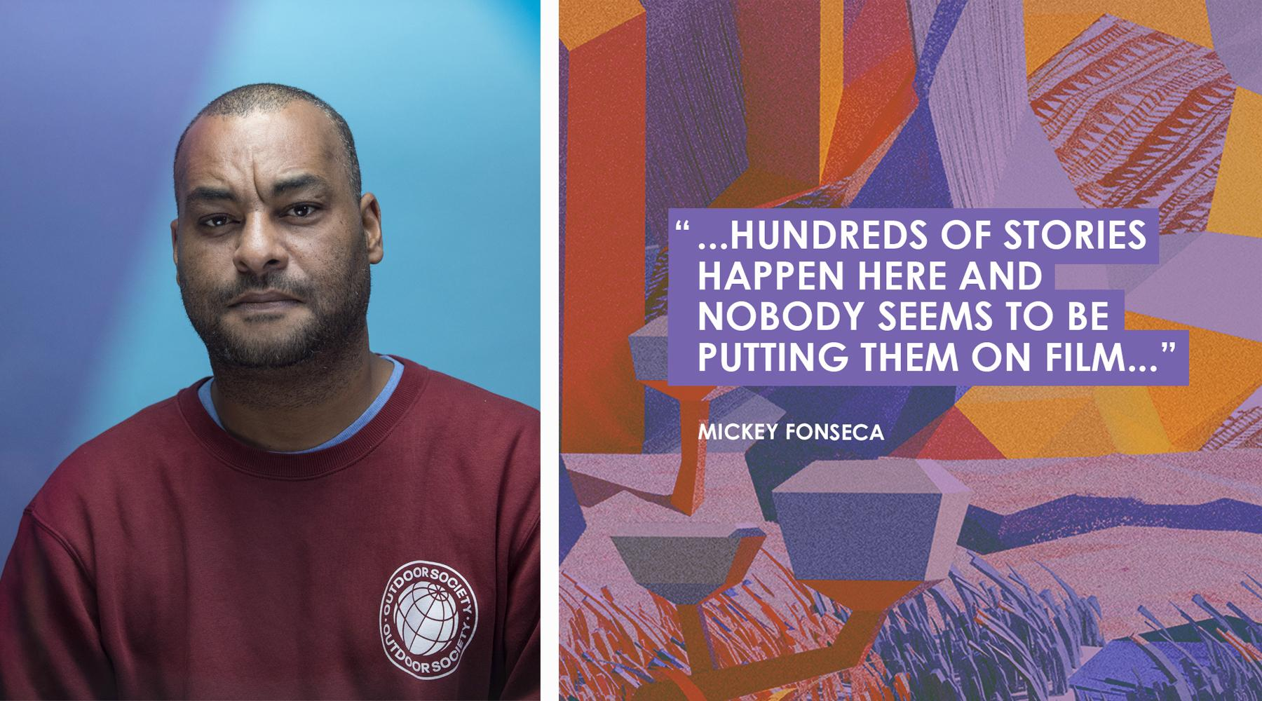 Mickey Fonseca portrait & graphic-campaign for Afrikamera's 2019 Edition – implemented in the social media channels.