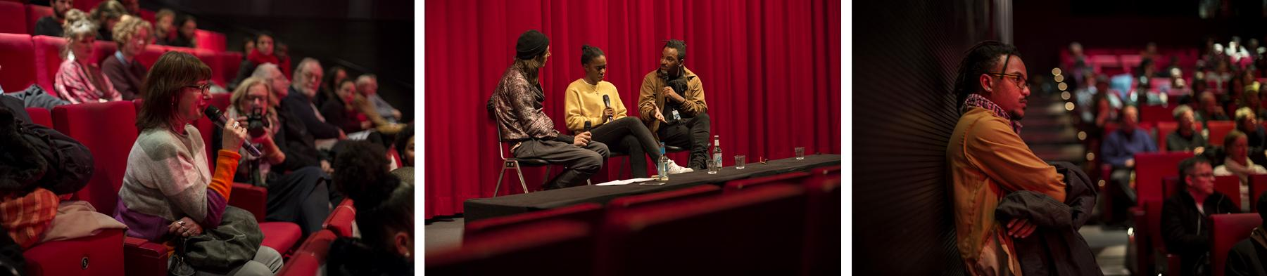 Ery Claver (director) attending his own screening and giving answers in a Q&A, November 2019.