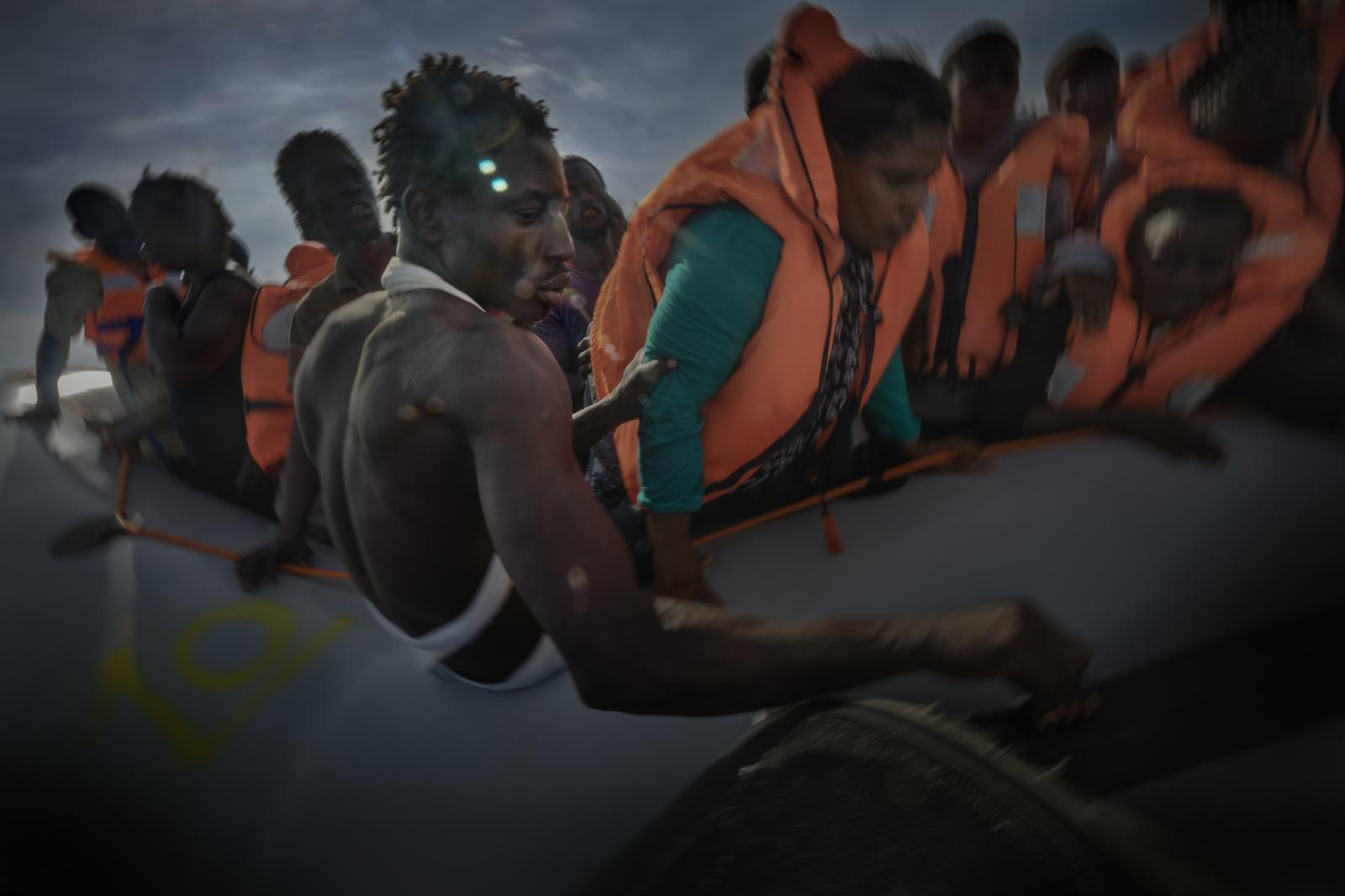 Refugees and migrants rescued on the high seas by members of Doctors Without Borders.