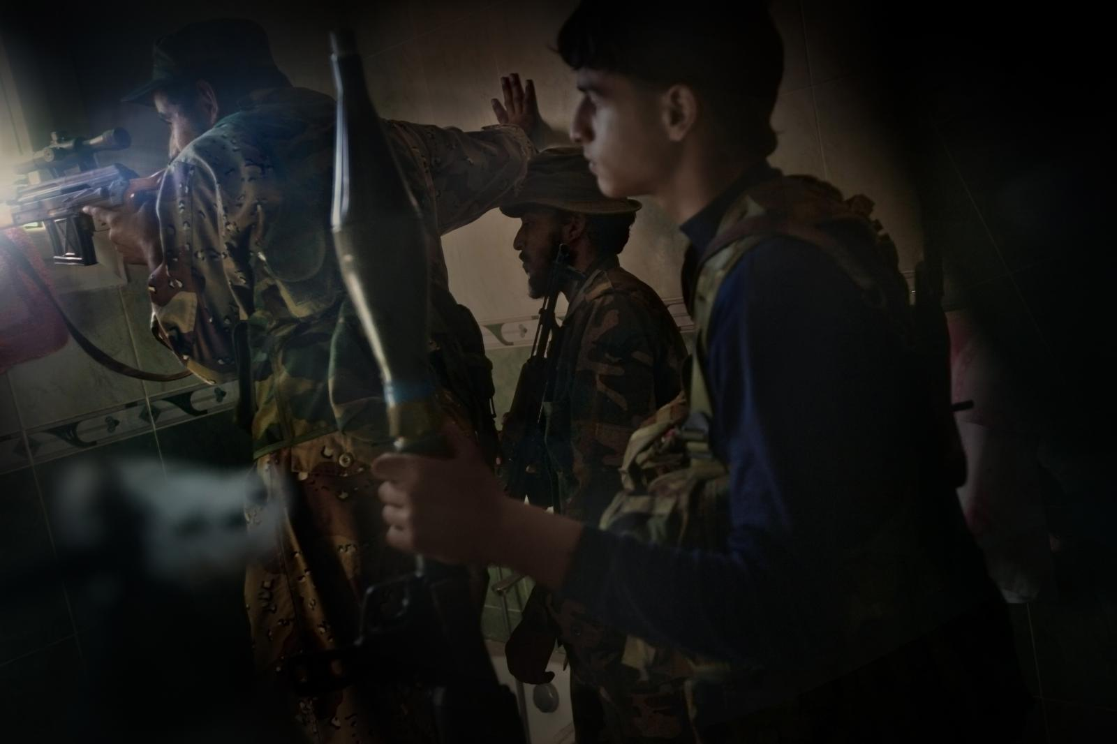 The final days of the Battle of Sirte, where Gaddafi was hiding before his death, and which signalled the end of hostilities (2011).