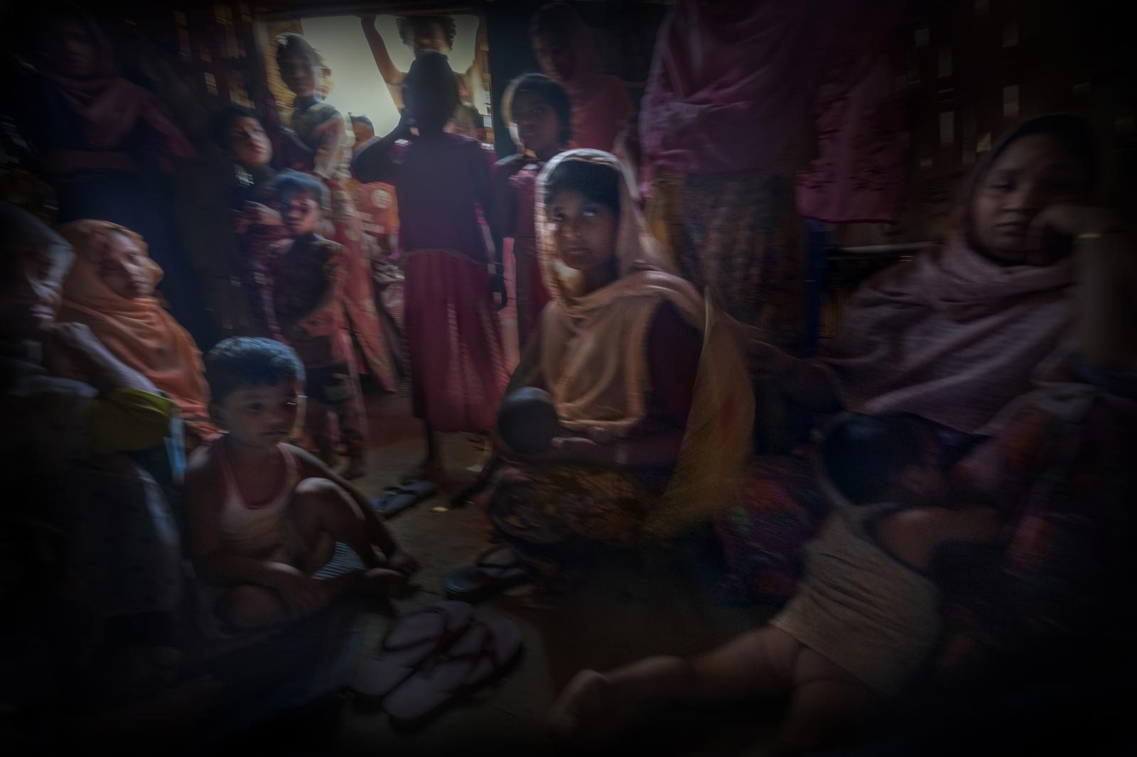 Rohingya refugees in Bangladesh, in Kutupalong refugee camp. There are currently more than a million refugees in this country, and more than 25,000 false passports have been found, which are used to get them to Europe, as well as to other regions throughout the world (Bangladesh).