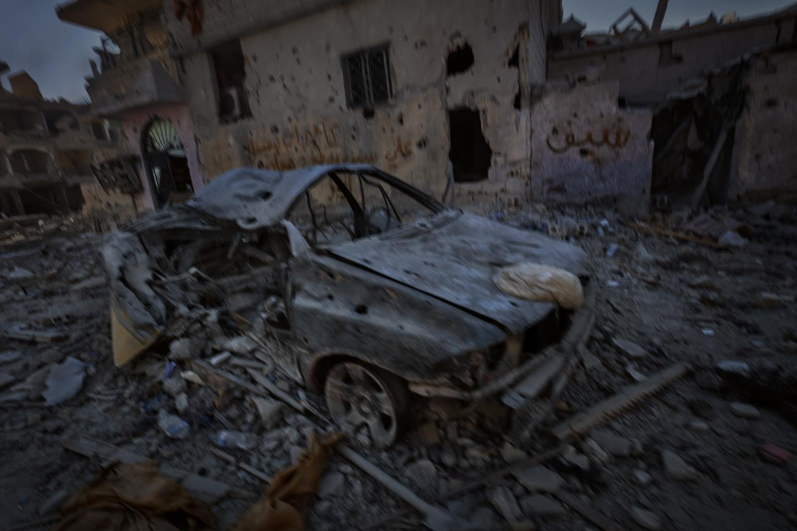 This image of destruction was captured during the battle for Raqqa, very close to where ISIS held its last position in the sadly famous stadium that served as a prison and torture center (Syria,2017)