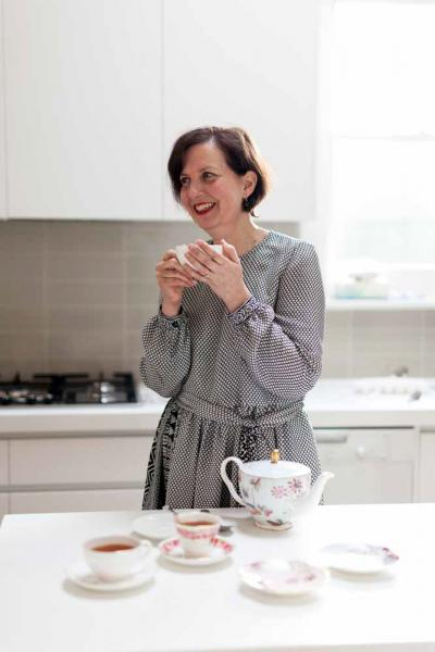 Sarah Tidey photographed at her home. Photographed for Frankie Magazine and Frocktober, an Ovarian Cancer Charity.