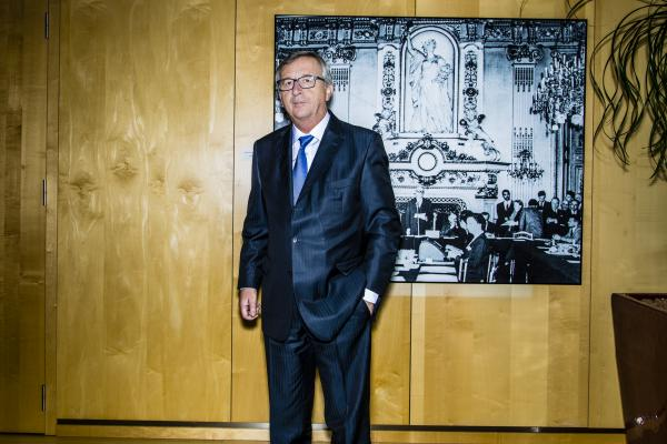 Jean-Claude Juncker President of the European Commission, photographed at his office. photographer Sander de Wilde for Welt am Sonntag.