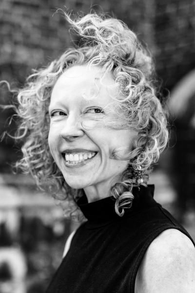 Gent Belgie 24 mei 2019 portret van Griet Vandermassen, filosofe, germaniste en schrijfster van het net verschenen boek over Dames voor Darwin, over het moderne feminisme.