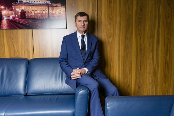 june 13 Brussels Belgium. Portrait of former Estonian primeminister and current MP of the European Parliament and vice president of the EC Andrus Ansip