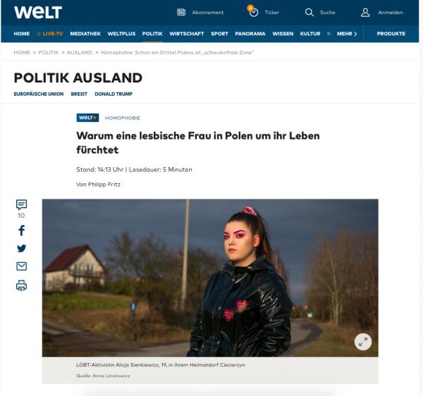"""Homophobie: Schon ein Drittel Polens ist """"schwulenfreie Zone"""" - WELT  On assignment for Welt/ Welt Am Sonntag"""