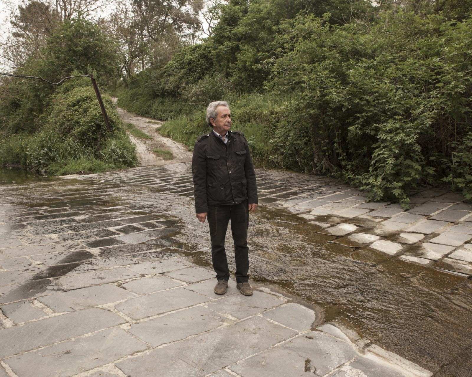 Solophra, April 2019. Portrait of Ermete De Maio, activist and environmentalist who for over fifty years has been fighting for the reclamation and restoration of the Solofrana, the main tributary and source of pollution of the river Sarno.