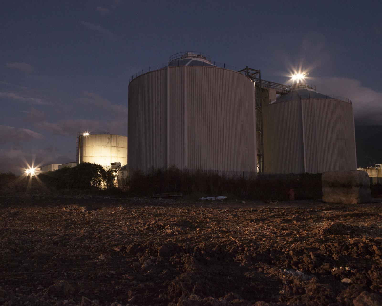 Scafati, November 2018. View of civil sewage treatment plant. This sewage treatment plant only works at a quarter of its capacity, due to the lack of infrastructure that should connect it to the sewerage networks of nearby cities.