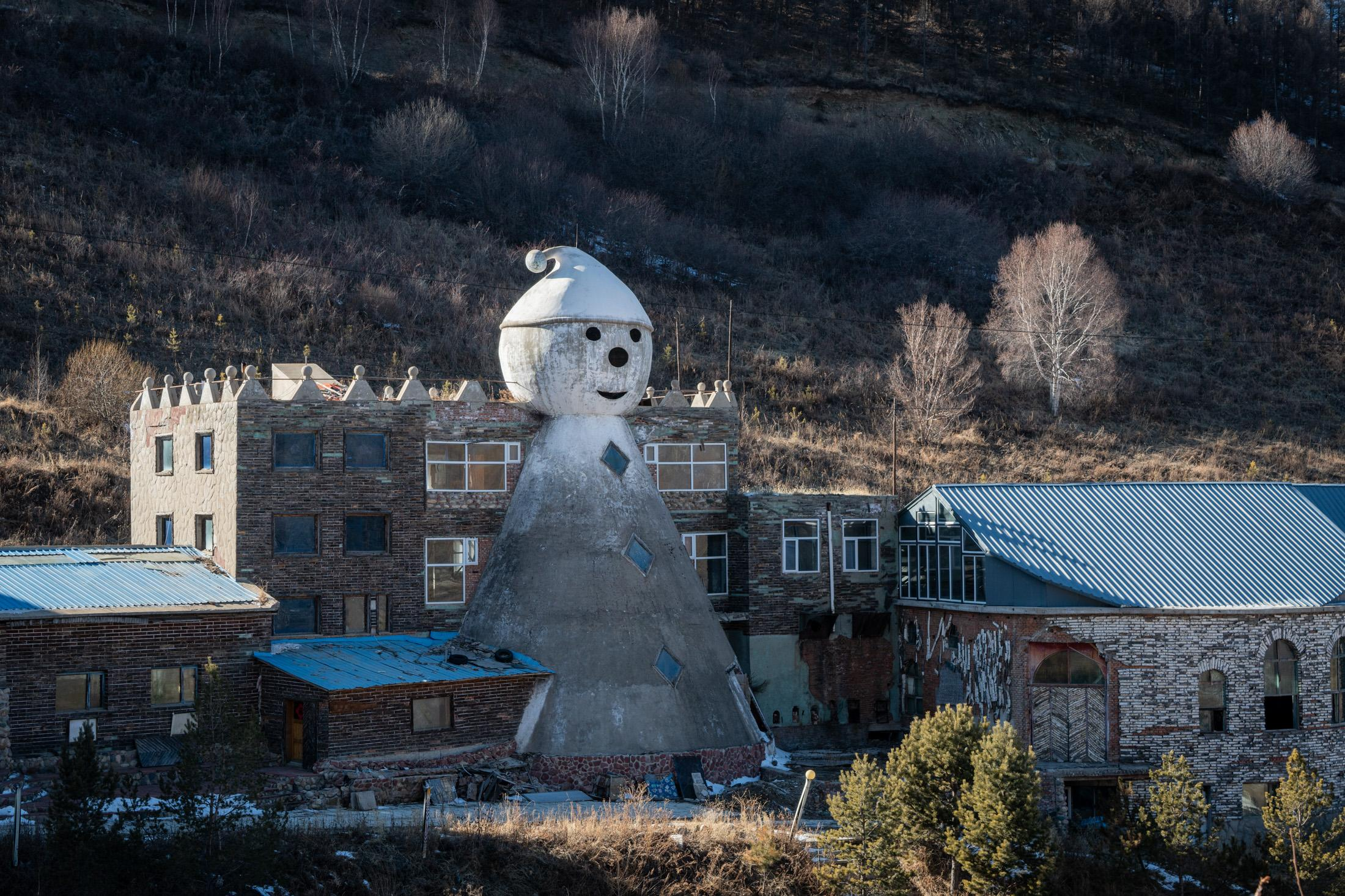 Saibei Ski Resort, built in the 1990s and now abandoned in Chongli, is the first ski resort built in northern China.