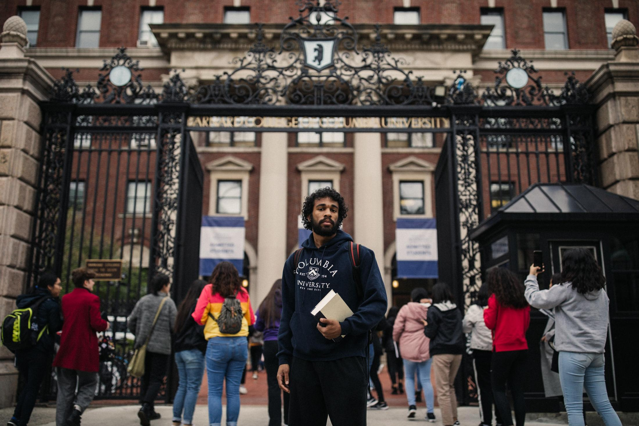 Alexander Cecil McNab, 23, a black Columbia University senior that was confronted by security officers after walking through the gates of Barnard College without showing his I.D. that led to accusations of racial profiling by campus security, for The New York Times