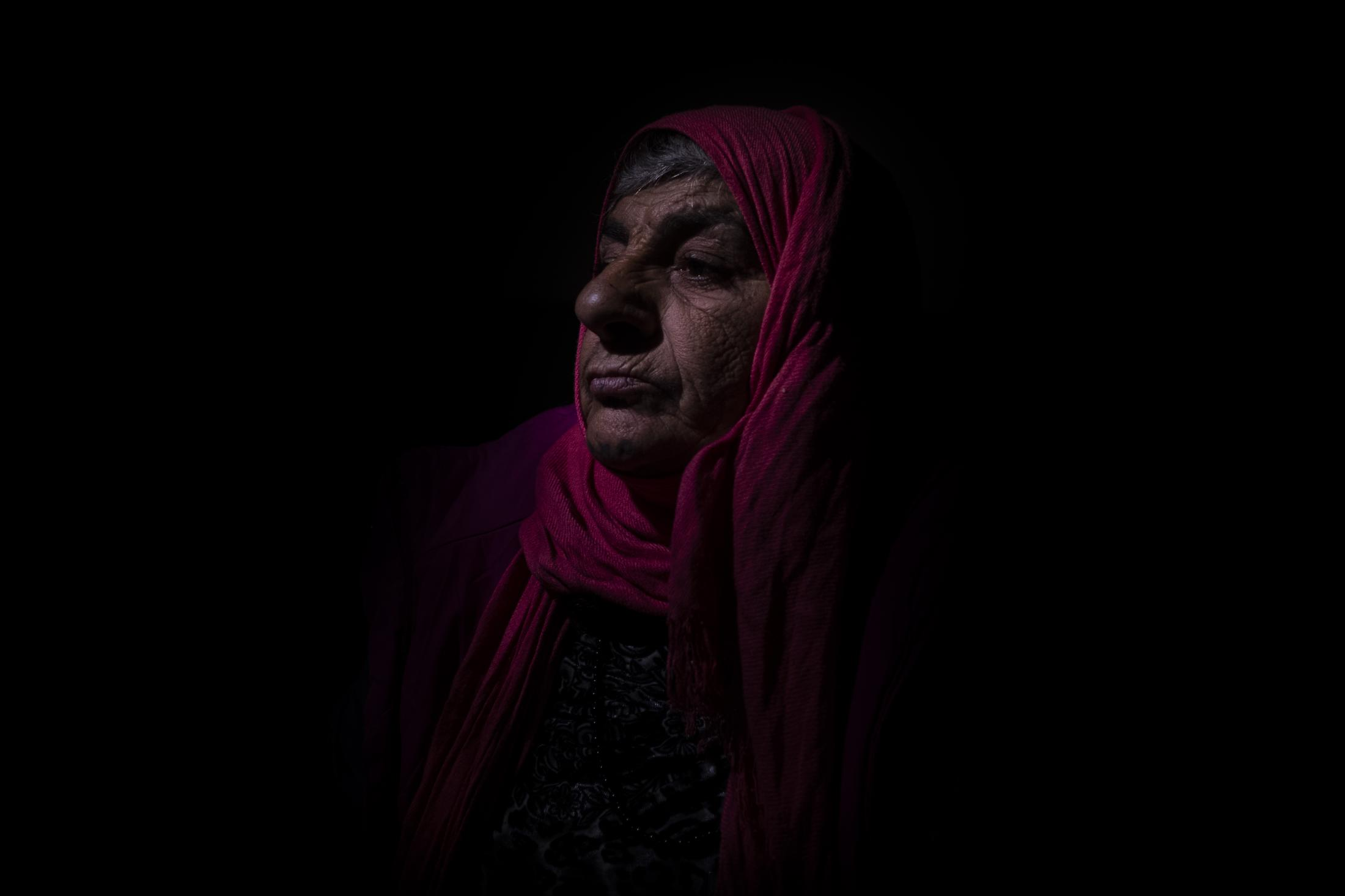 Hadja Mohamed (age not disclosed) was forced to flee during the attack of her village by Turkish proxies. This mother of three says they´ll never go back home. Former neighbours told her that her house was looted and destroyed by Islamist militias. After the withdrawal of US troops from northern Syria in October 2019, Turkey launched an offensive against the predominantly Kurdish areas in the northeast of the country along Islamist forces. Calls for war crimes investigations into the conduct of Ankara-backed militias are mounting ever since. (Andoni Lubaki / Euskal Fondoa)