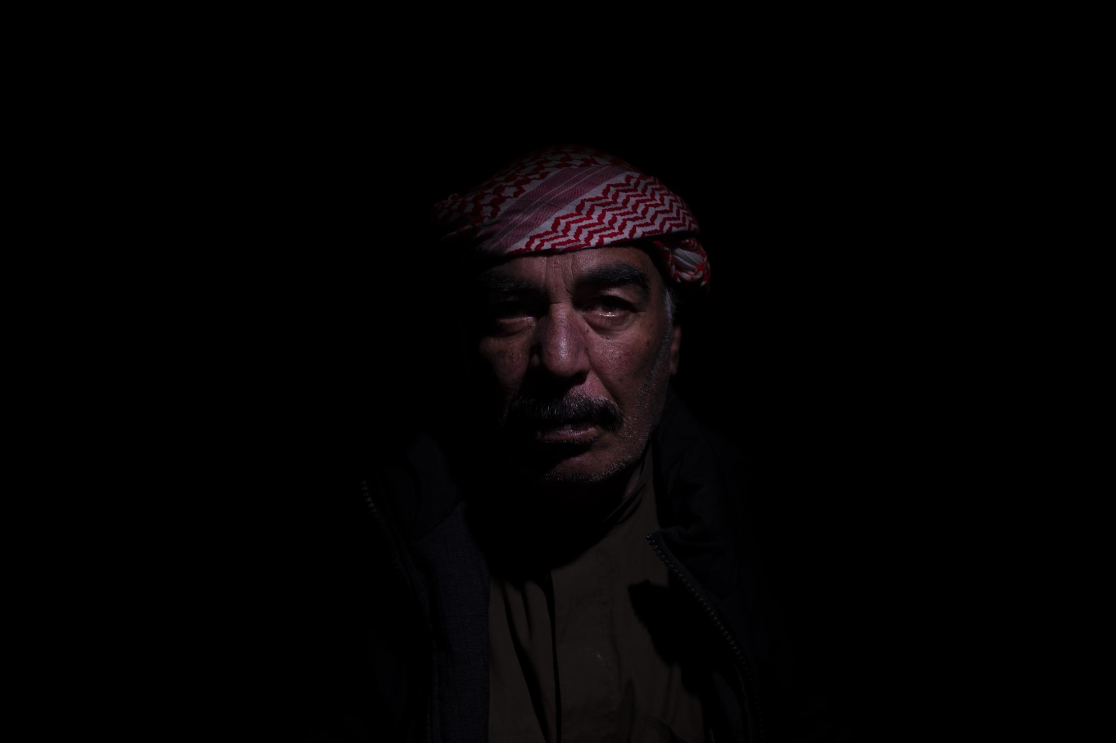 """Ahmed (age not disclosed) is deaf-mute and the father of six. His wife says he was working in the fields when everything started but that they have lost everything now, """"including a tractor."""" After the withdrawal of US troops from northern Syria in October 2019, Turkey launched an offensive against the predominantly Kurdish areas in the northeast of the country along Islamist forces. Calls for war crimes investigations into the conduct of Ankara-backed militias are mounting ever since. (Andoni Lubaki / Euskal Fondoa)"""