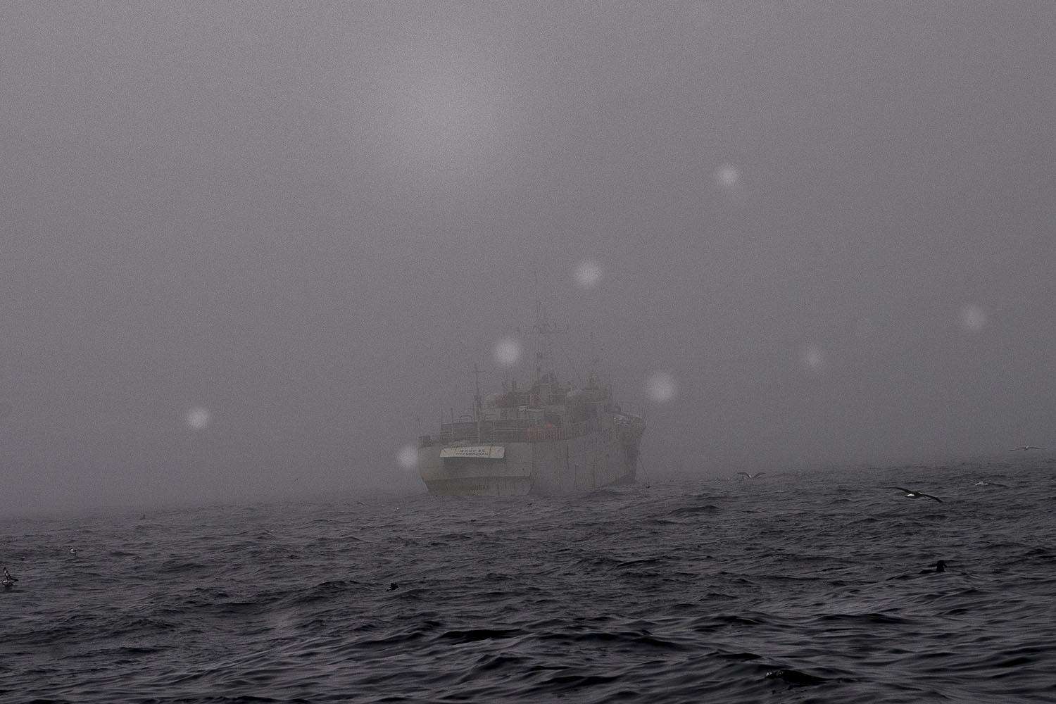 Spanish troller between the limits of Argentina and international waters. South west Atlantic Ocean. Argentina.
