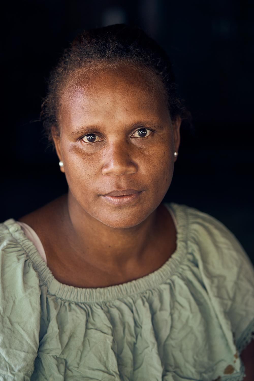 Lisa Nasau, cocoa farmer - REVIRESCO Farmer's Association Trust Board Partnership. Faalau Village, Ward 6, West Baeleta, Malaita Province, Solomon Islands.