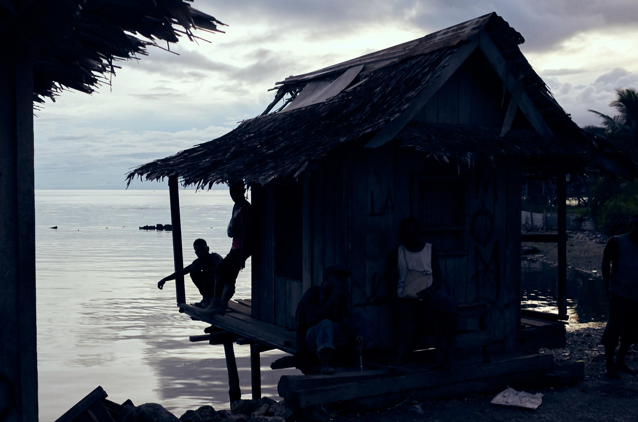 A small shack on the harbour in Auki, the capital of Malaita Province and the Solomon Islands' second-largest city.
