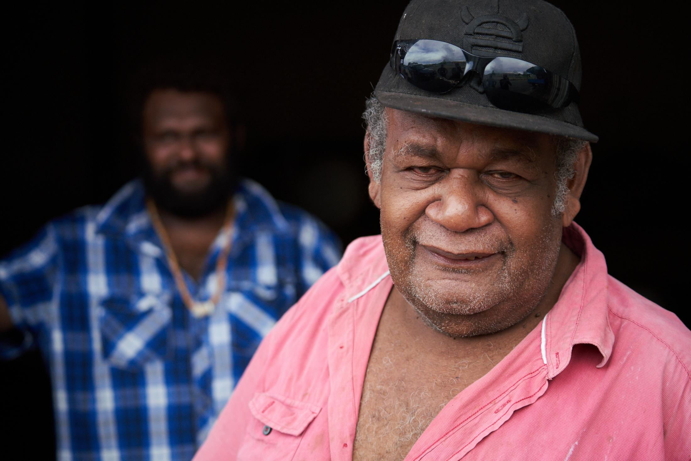 Brown Fono, cocoa bean trader and owner of Arania Enterprises (in business for 30 years). Arania Enterprises Coocoa Buyers and Exporters. Auki, Malaita Province, Solomon Islands.