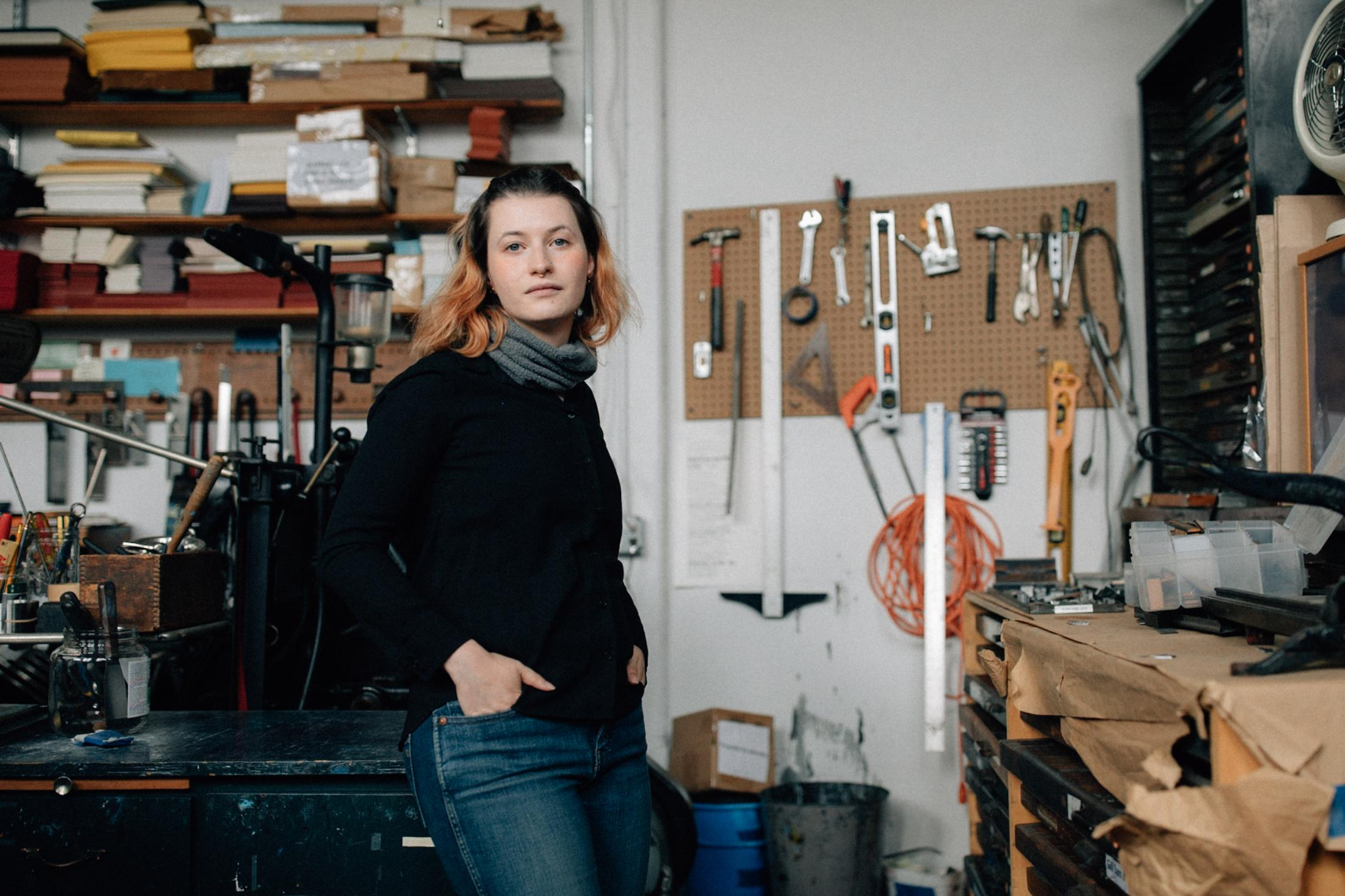 Sarah Lawson, editor and studio Manager of Ugly Duckling Presse, for The Wall Street Journal