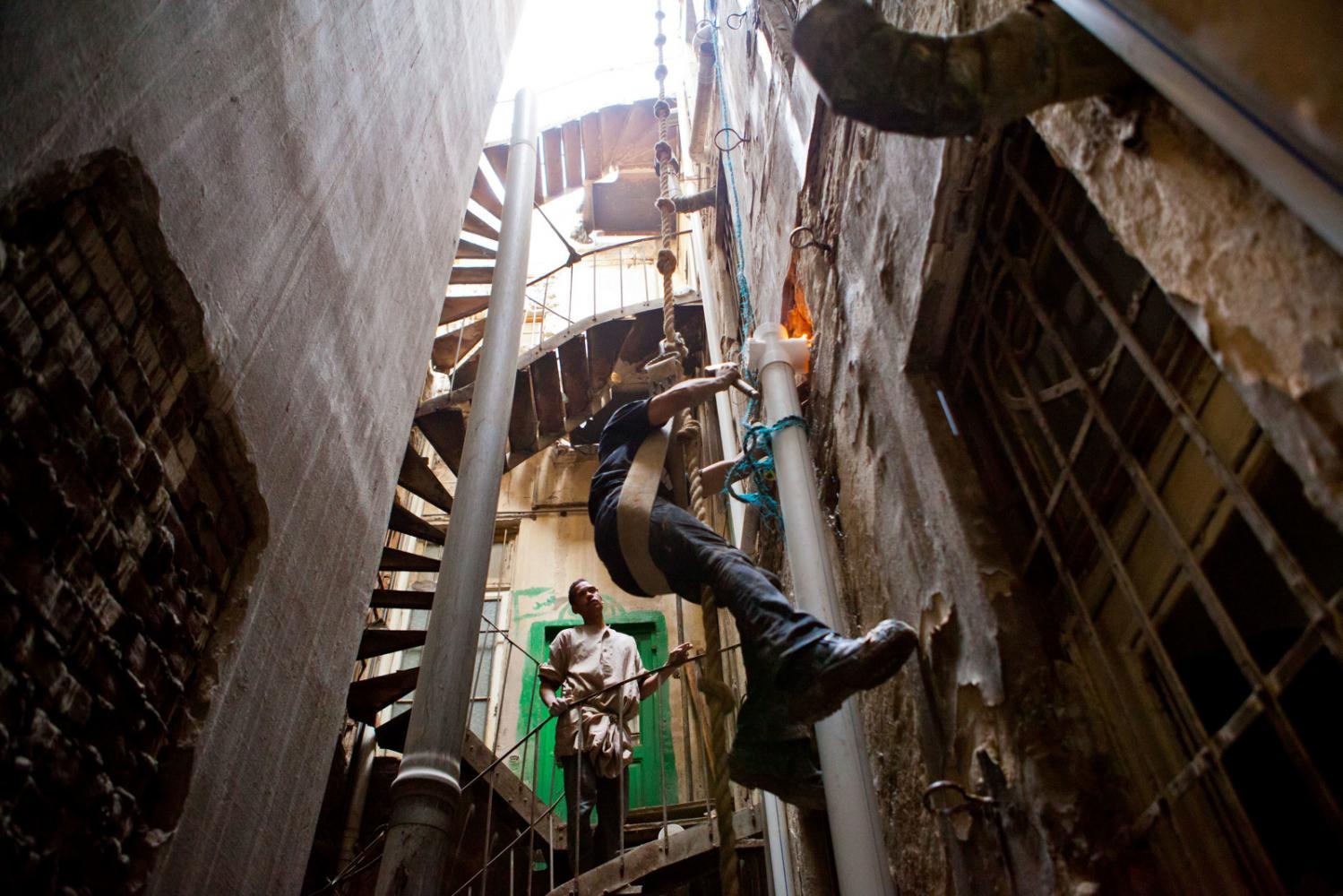 Water pipe repair in Cairo, Egypt