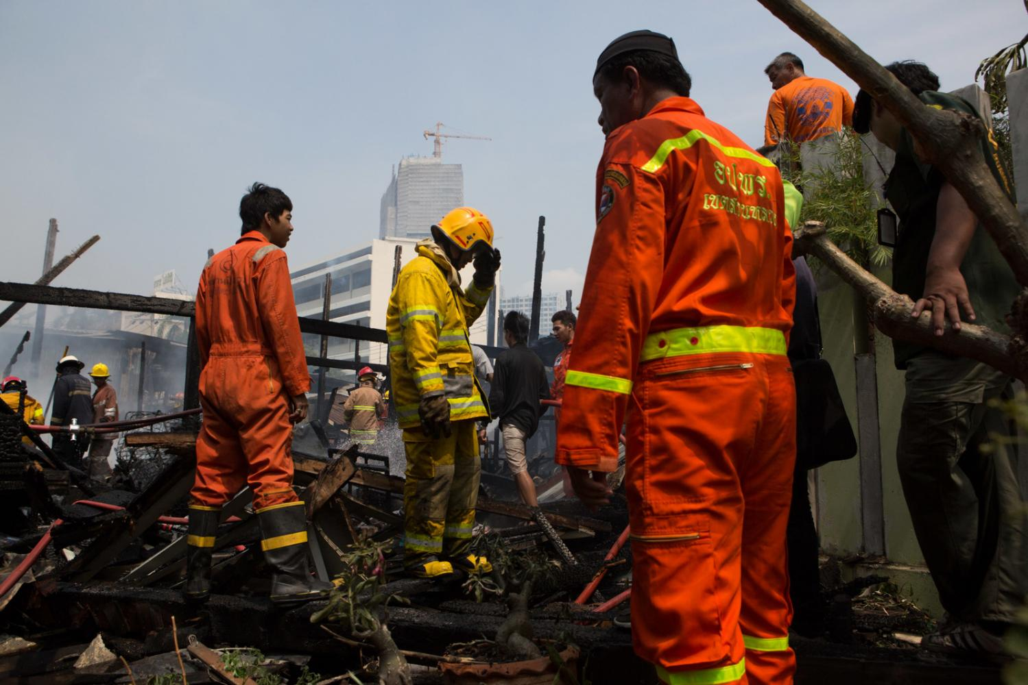 Fireighters in Bangkok, Thailand