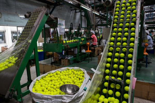 Wilson Tennis Ball Factory - For The New York Times