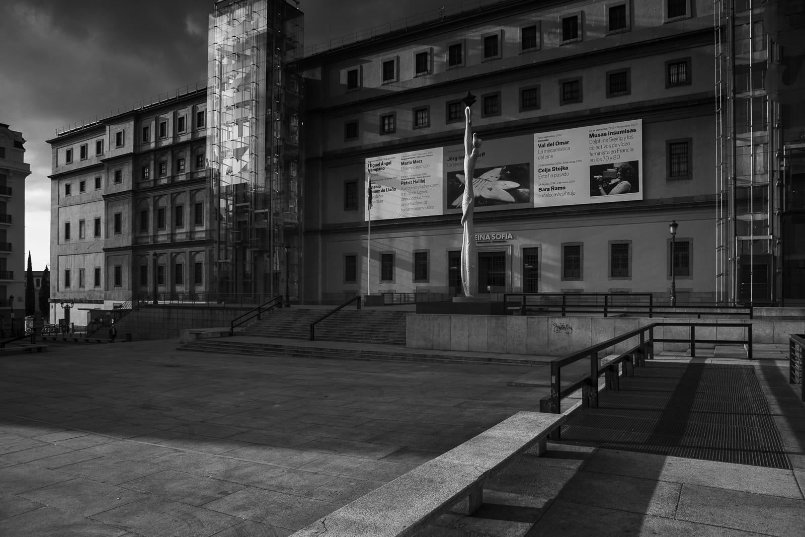 Reina Sofia Museum closed during the lockdown amid coronavirus pandemic in Madrid.