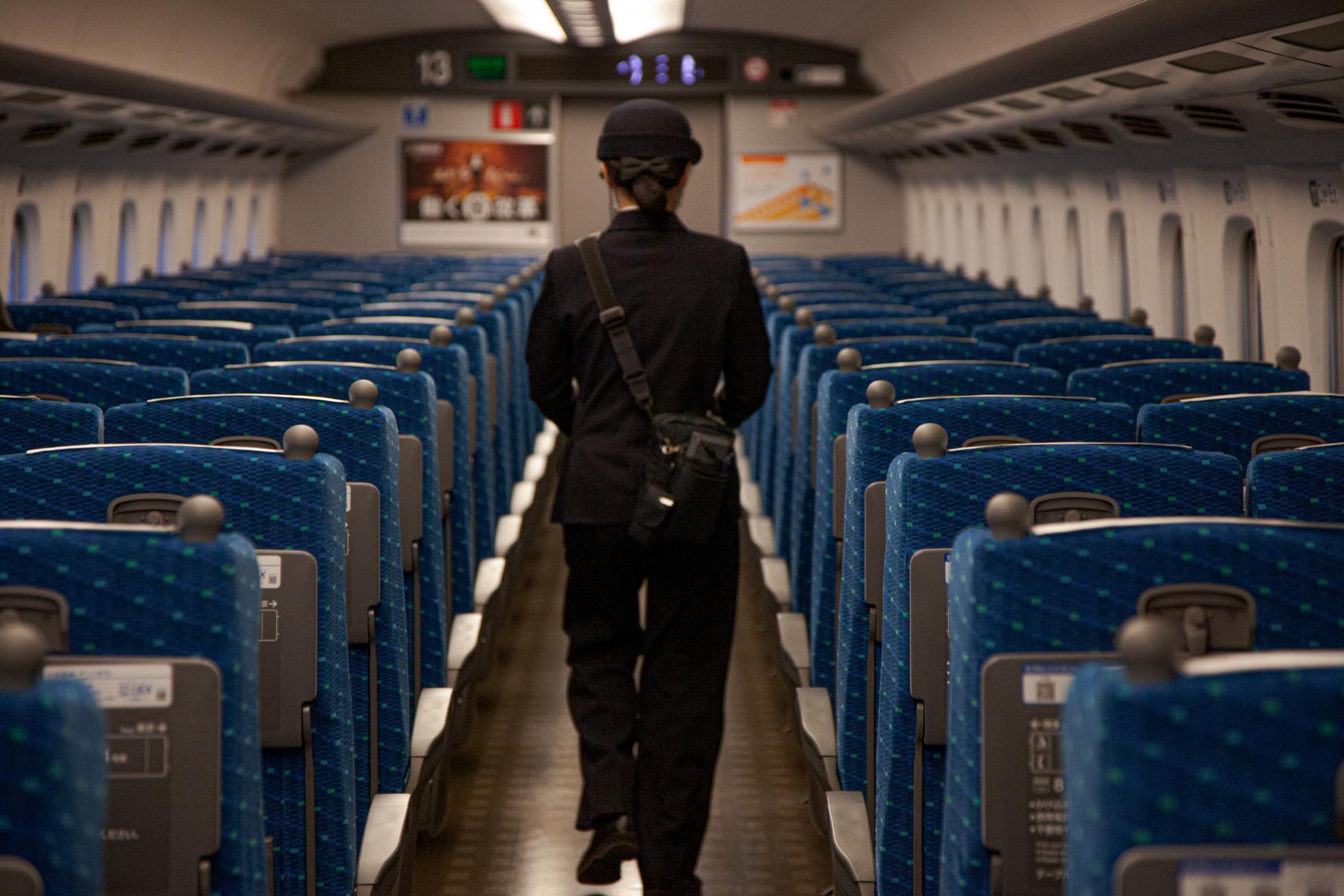 Empty train in Japan, March 2020