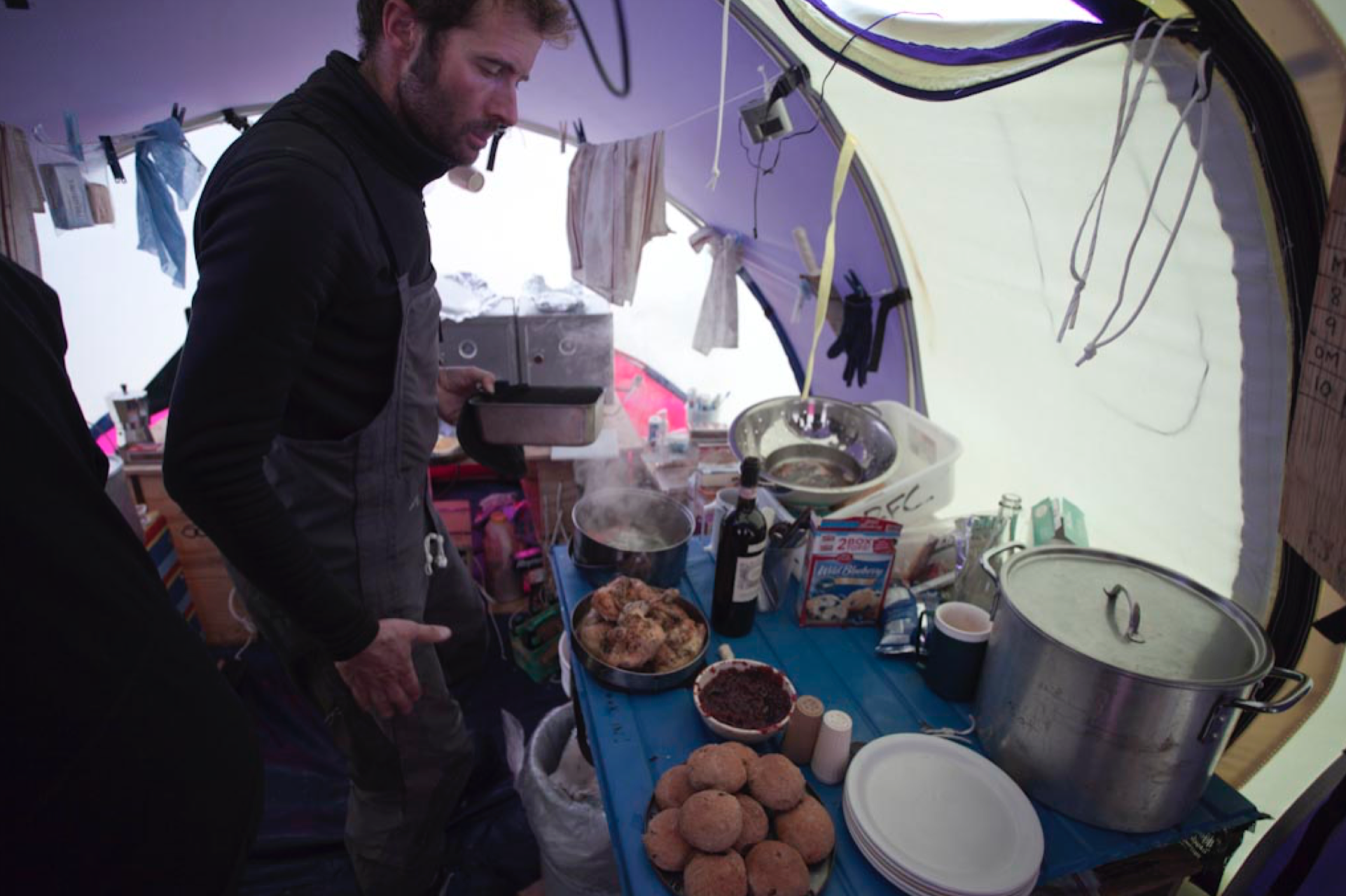 Cook tent at base camp.