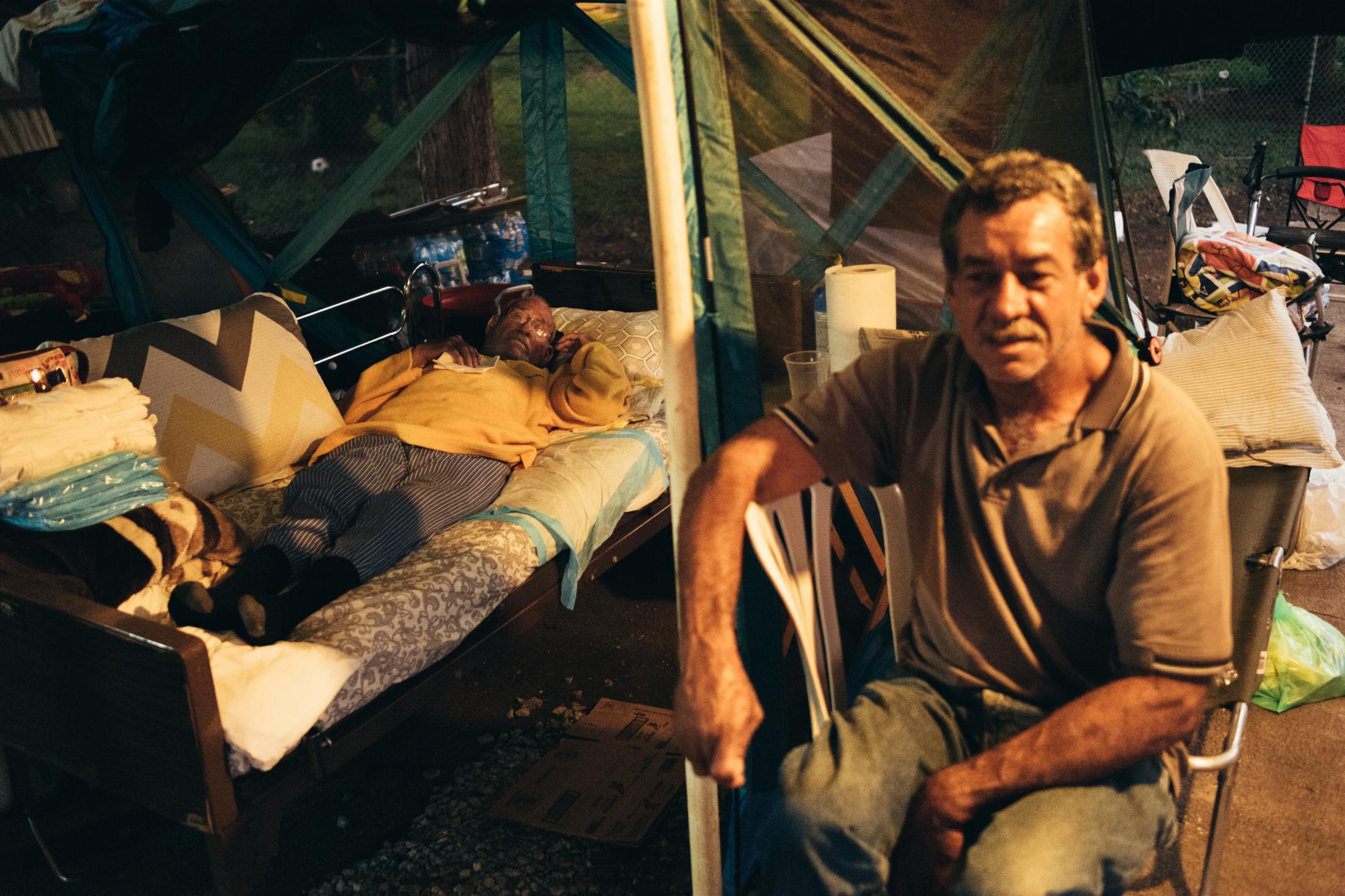"""Campamento """"Villa Temblores"""" Bo. Esperanza, Guanica, Enero 2020."""