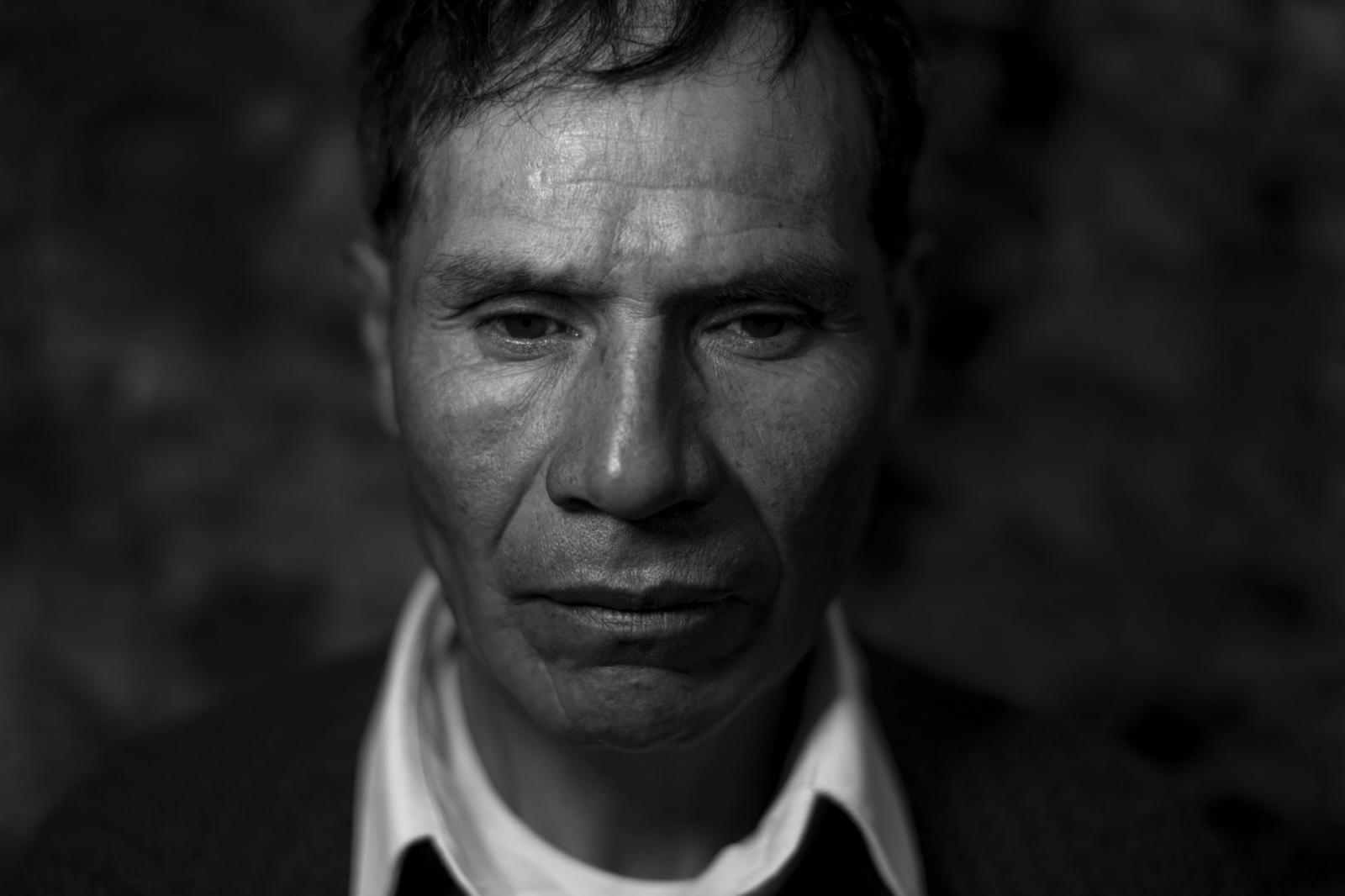 Zósimo Hilario quien perdio a su padre, asesinado el año 1991 junto con 12 miembros de su familia por una patrulla del ejercito.