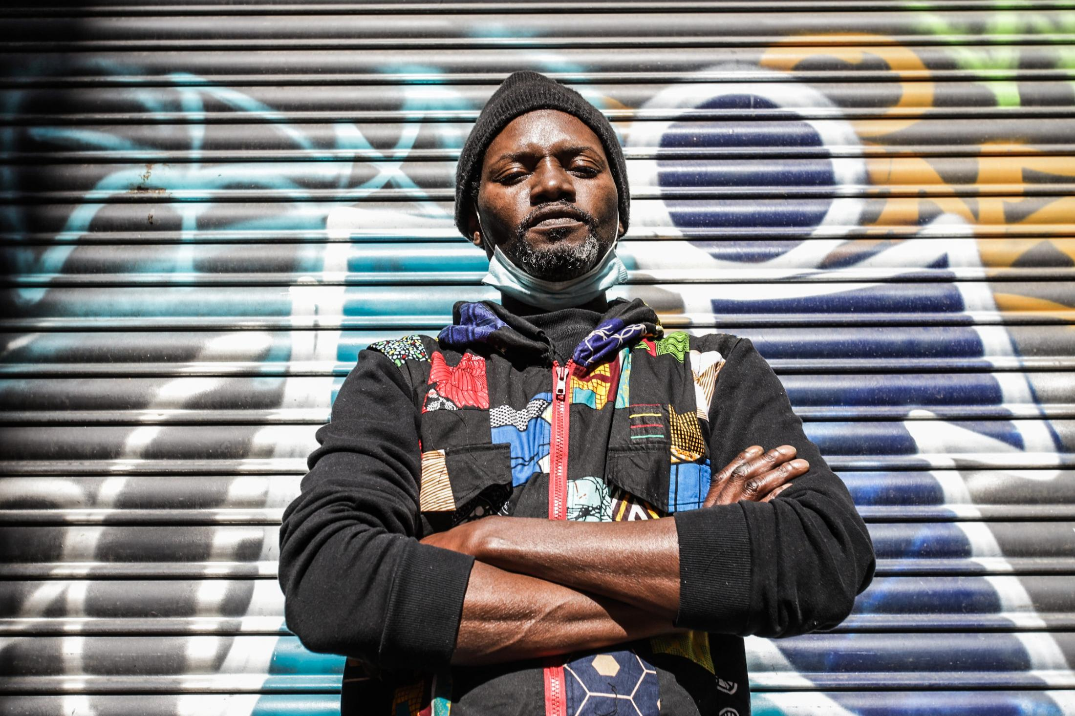 Cheik, 40, from Senegal. Living in Spain since 2000. M any social measures have come out, but the institutions have not talked about helping people selling on the street.