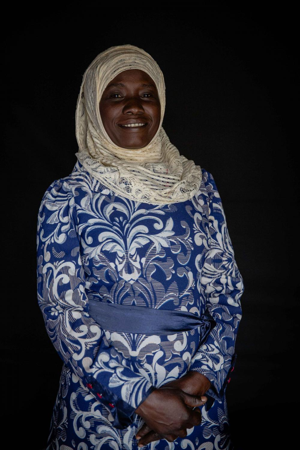 Zainab Ojaku, a nurse and mother of four, is a member of Yumbe Muslim women's group. She started doing activism work to empower her daughters, she hopes for them to be confident, educated and profession women in the future. For International Rescue Committee.