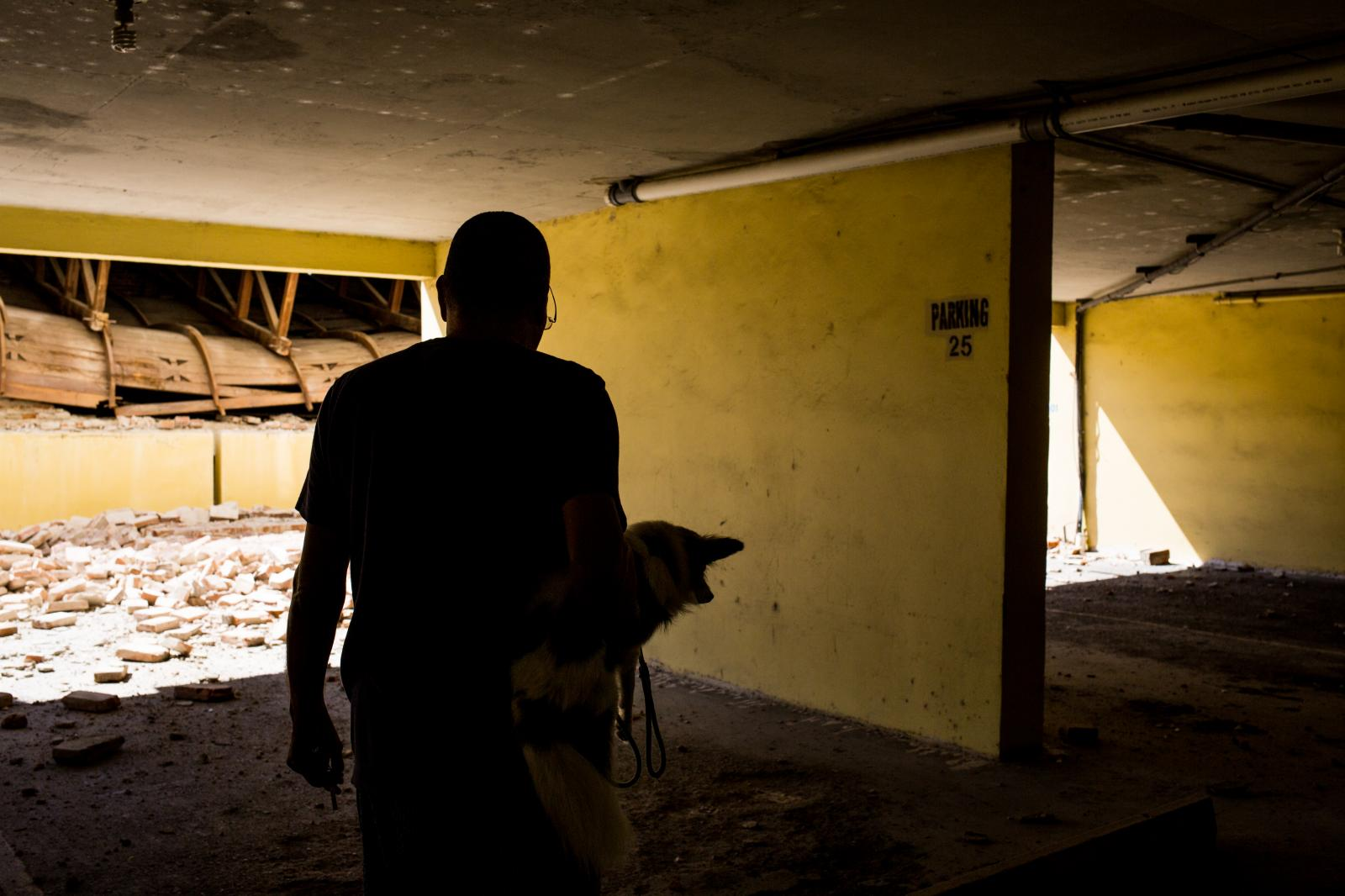 7 de enero de 2020. Edificaciones en el municipio de Ponce quedaron derrumbadas por el sismo en la madrugada de hoy.