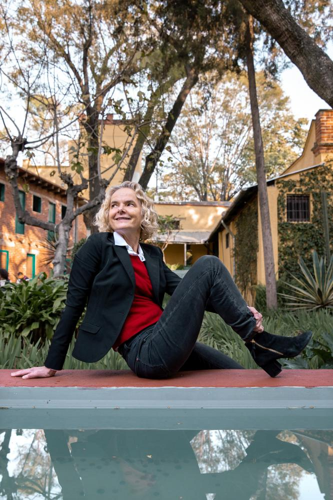Nora Volkow Director of the National Institute on Drug Abuse (NIDA) at her great-grandfathers' house Leon Trotsky where she also grew up. For Nature.