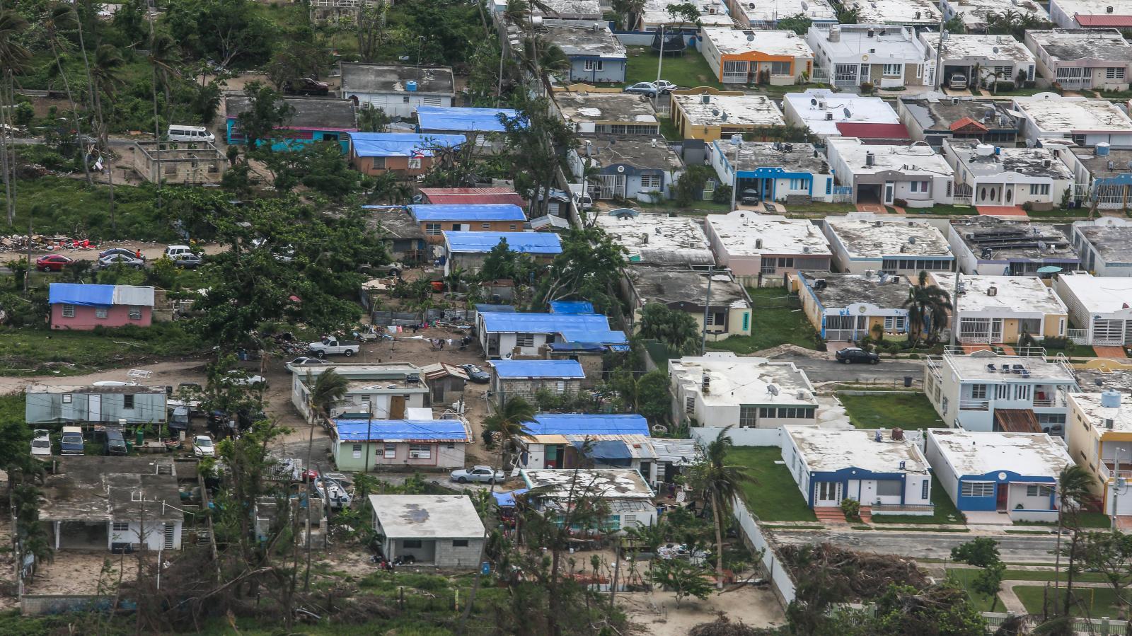 6 de noviembre de 2017. Puerto Rico vista desde el cielo.