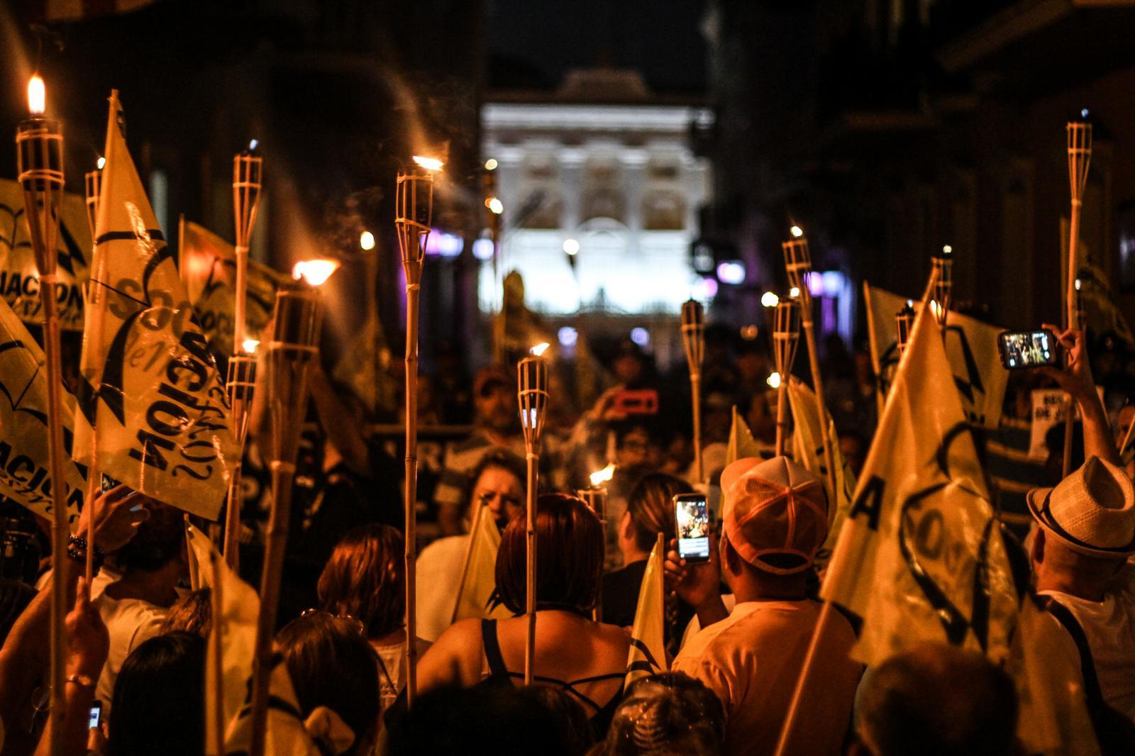 17 de marzzo de 2017. Menifestación en El Capitolio y Marcha a La Fortaleza por el Magisterio.