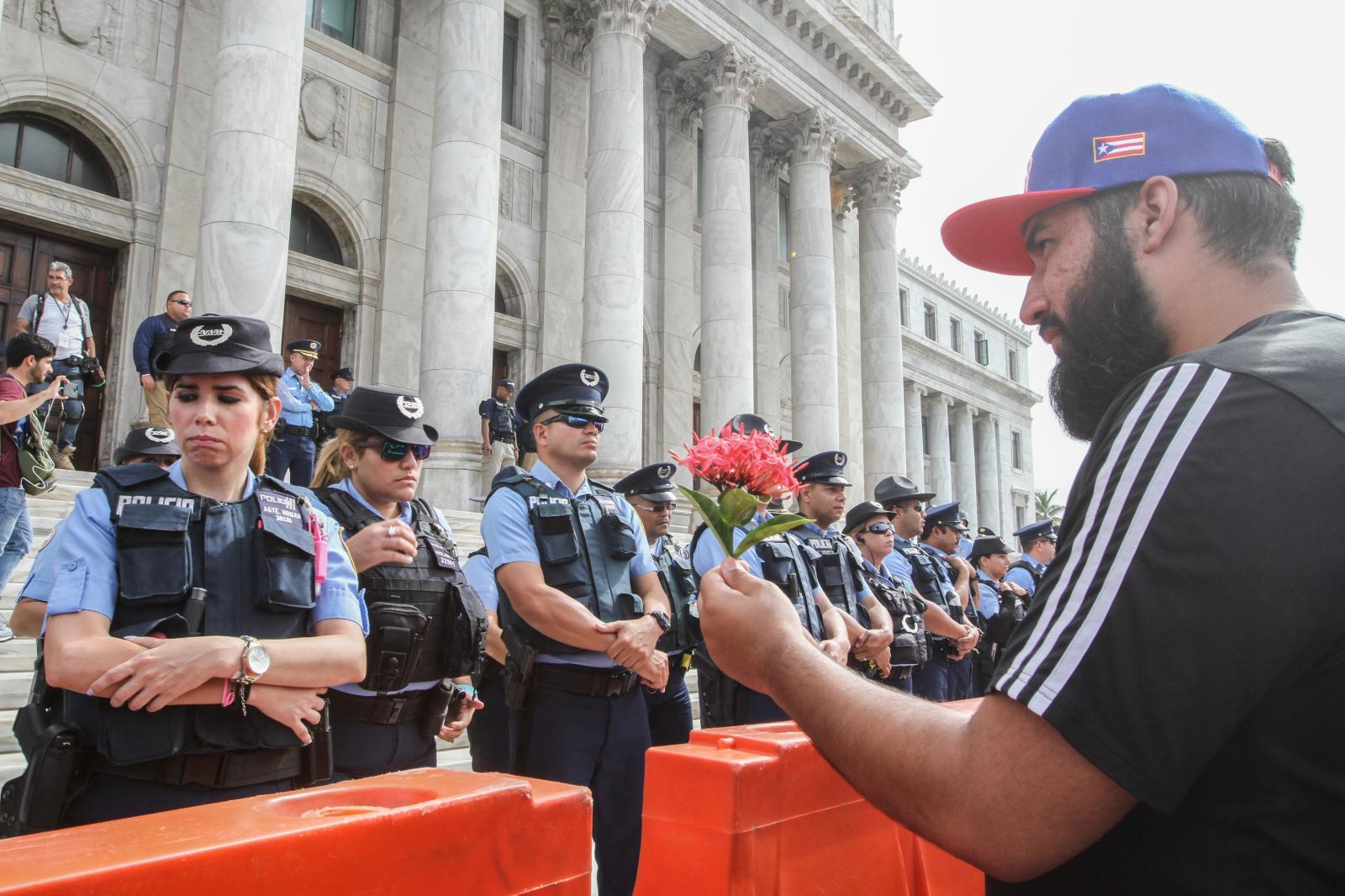 18 de abril de 2017. Manifestación en el Capitolio tras la derogación de la Comisión de la Auditoría de la Deuda Pública.
