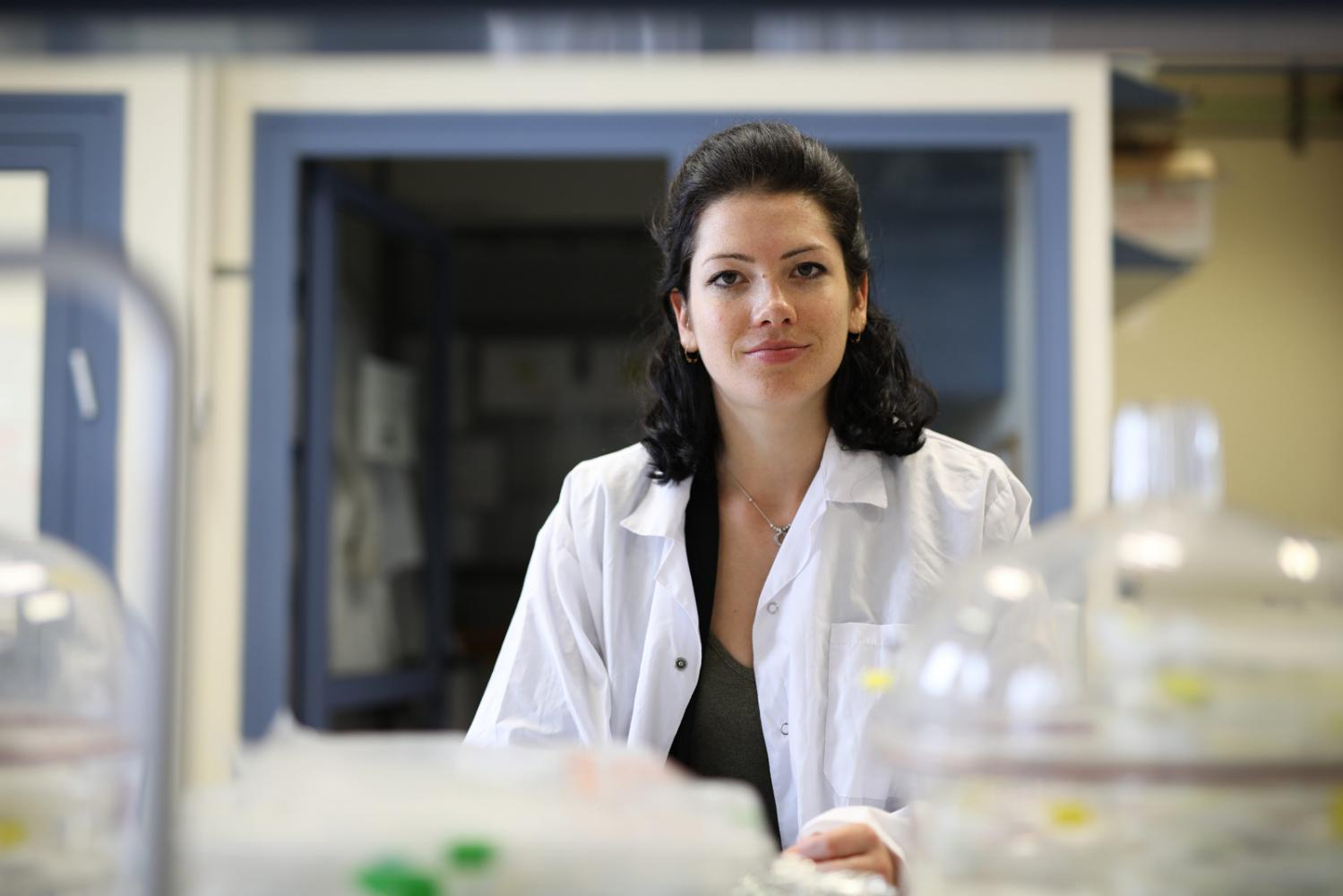 Portrait of student Lia Baumann in a laboratory in the Faculty of Biotechnology and Food Engineering at the Technion in Haifa, March 03, 2019.