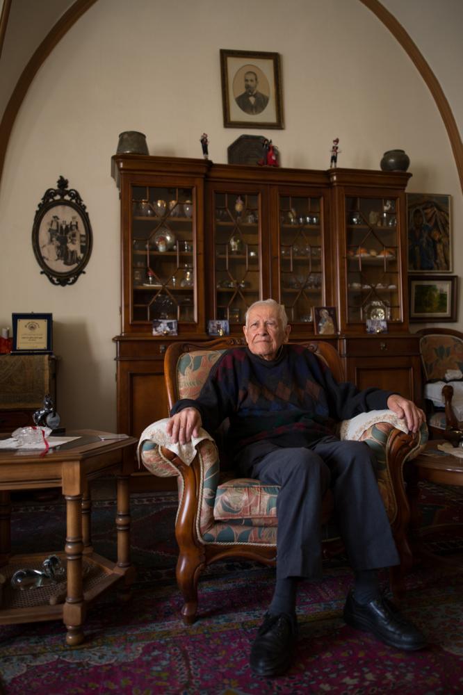 Portrait von John N. Teel in seinem Haus in Jerusalem's Old City, 23.November 2016