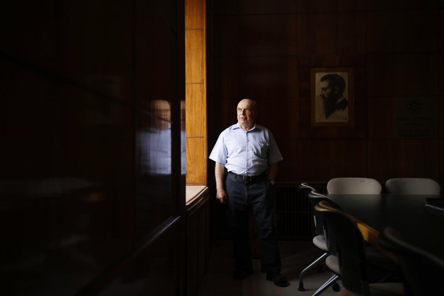 JERUSALEM, ISRAEL - JUNE 17, 2018: Portrait of Natan Sharansky, Israeli cabinet minister, human rights activist and head of the Jewish Agency. Sharansky is stepping down from his position in order to retire. CREDIT: Corinna Kern for The New York Times
