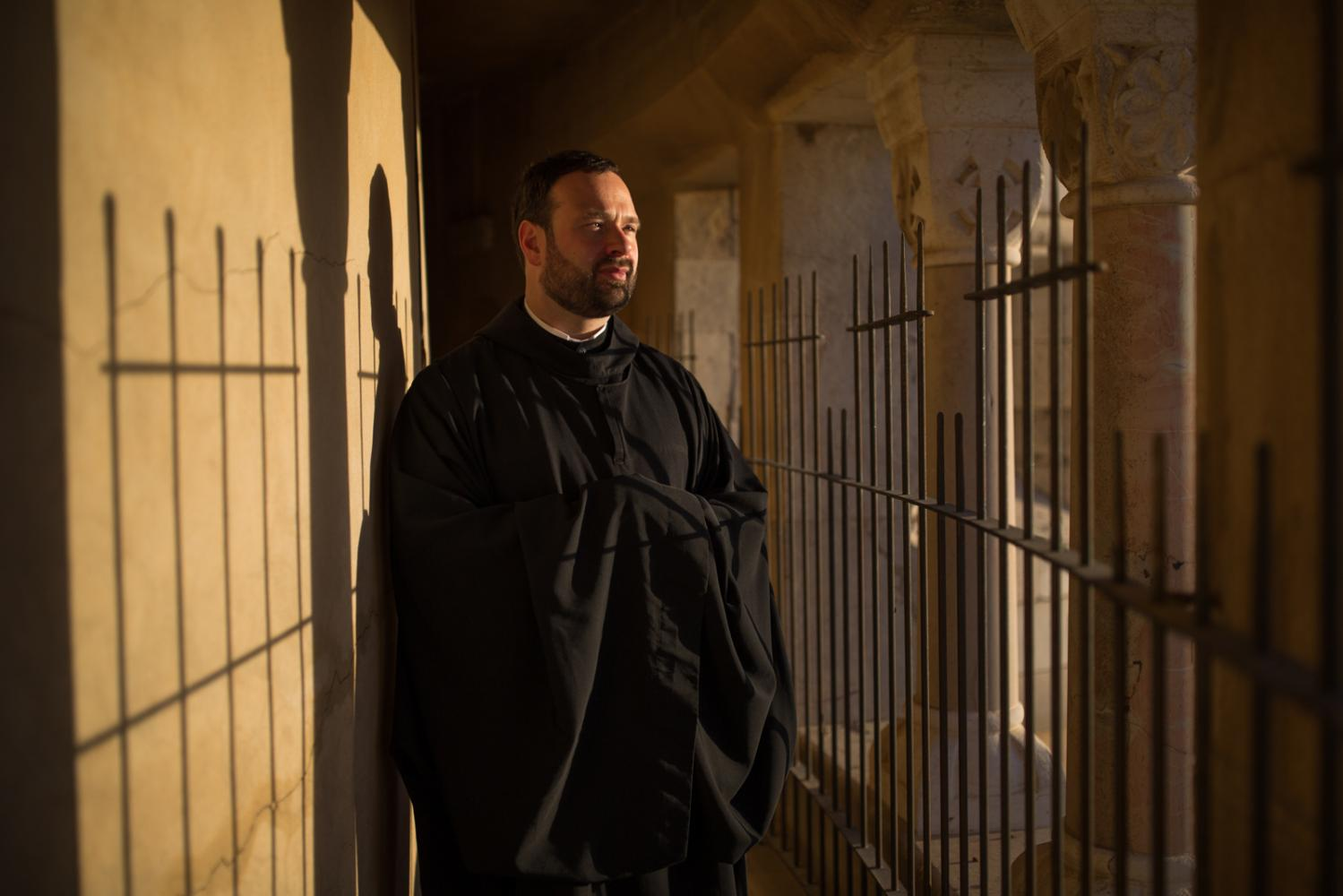 Portrait von Pater Nikodemus in der Dormition Abbey in Jerusalem's Old City, 24.November 2016.