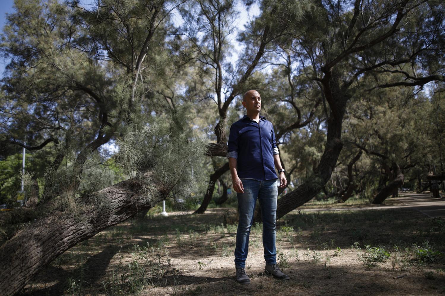 "TEL AVIV, ISRAEL -â€ MAY 18, 2018: Portrait of Avi Issacharoff, one of the co-authors of the Israeli TV drama ""Fauda"", in Tel Aviv, Israel, May 18, 2018."