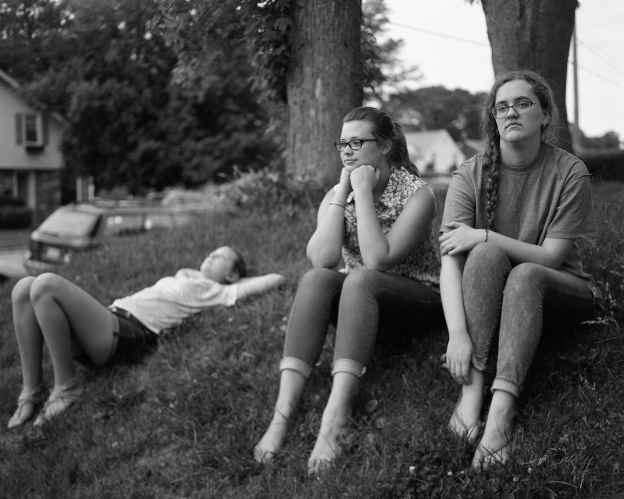Abby, Erin, Zandra, in the Summer, 2017