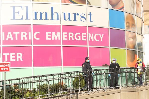 Elmhurst Hospital intake during coronavirus crisis. March 2020