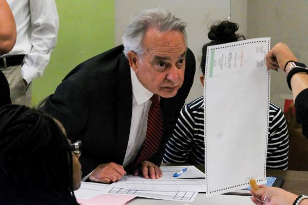 Recounting ballots in Queens DA election, Middle Village, Queens