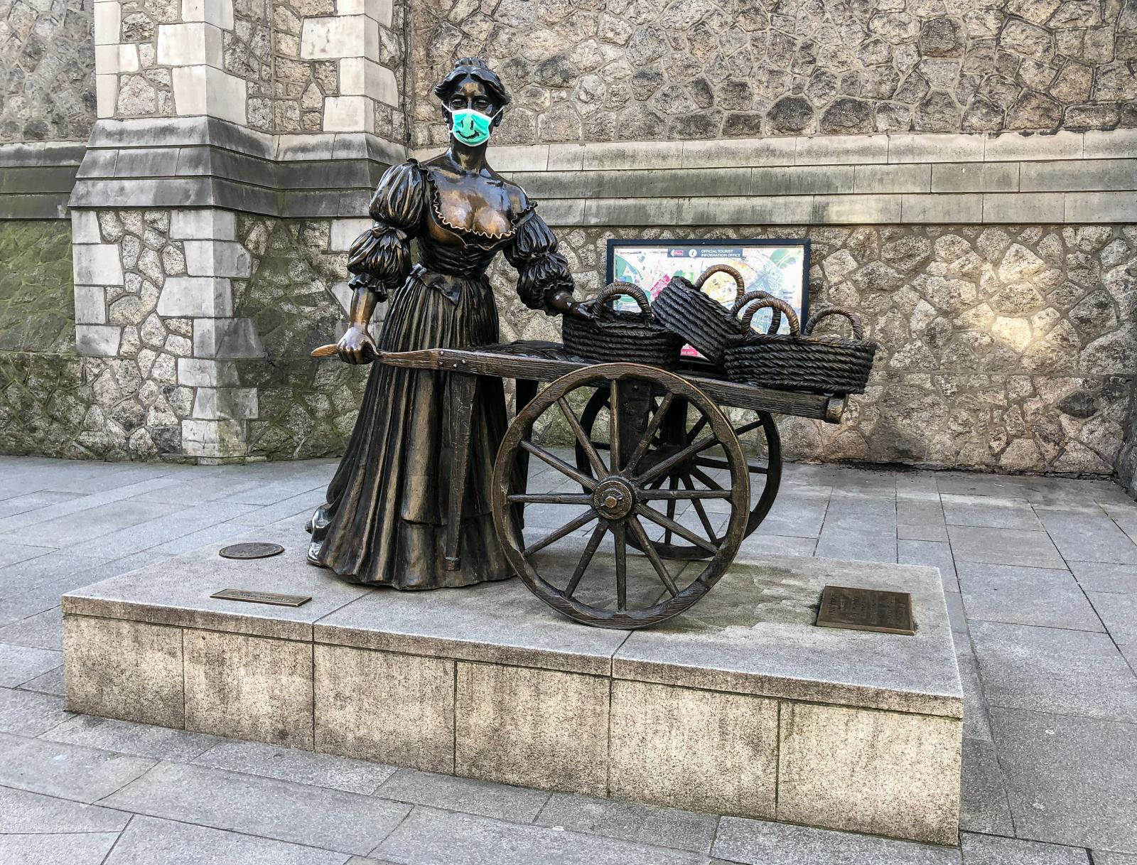 Photography image - Loading Pre-lockdown_Molly_Malone_Statue_Suffolk_Street_Dublin_March_2020.jpg