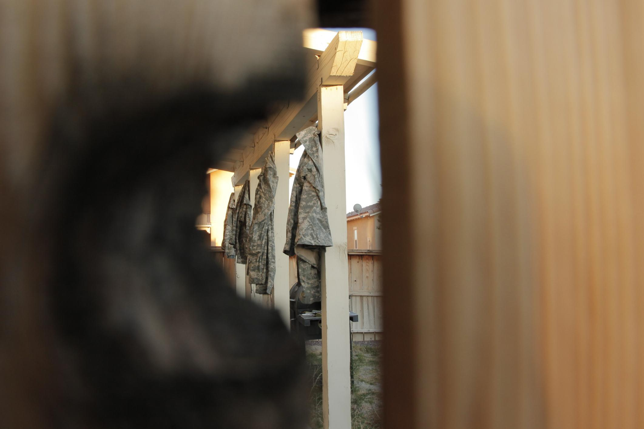 ACUs out to dry, Fort Irwin, CA