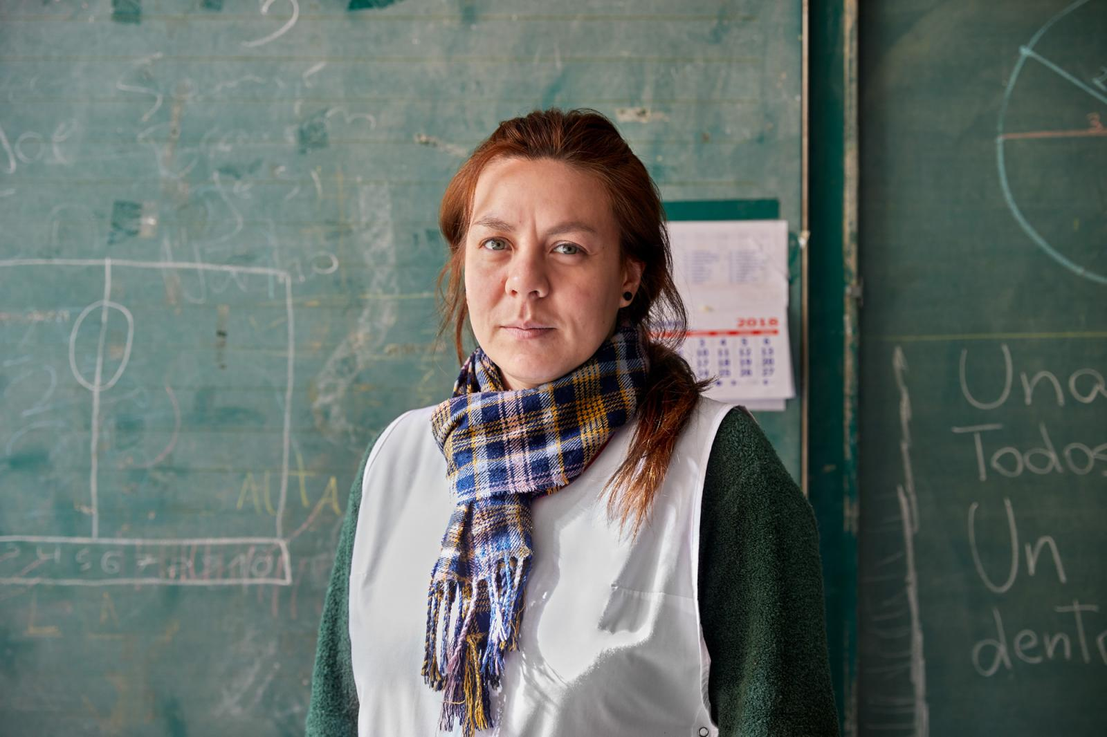 Florencia Obregón, maestra.