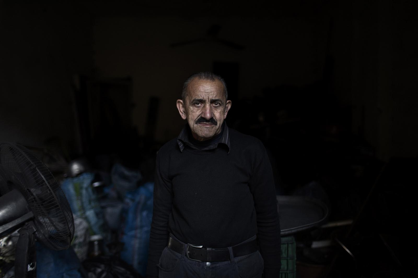 Abdel Kader Mohammed: I start work at 7 am and I don't leave until around midnight. I barely make enough money to pay rent. The market is weak. It's always been bad but it's gotten worse. Al-Mina in Tripoli, Lebanon. December 11th, 2019. Diego Ibarra Sánchez for CNN