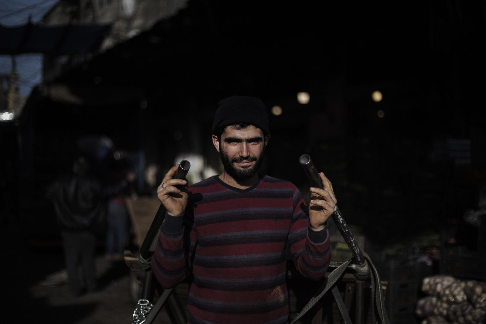 """Mahmoud Hussein, 18 years old from Idlib, Syria. """"I moved from one problem to another problem. It's better back home. At least it's home. . Bab al-Tabbaneh, Tripoli. Lebanon. December 11th, 2019. Diego Ibarra Sánchez for CNN"""